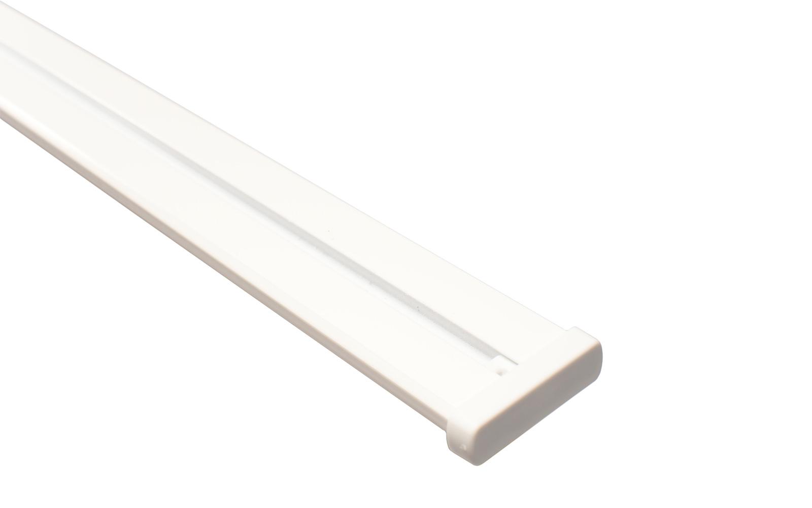 Erstaunlich Vorhangschiene 2-läufig weiß aus Aluminium inklusive Vorbohrung AX81