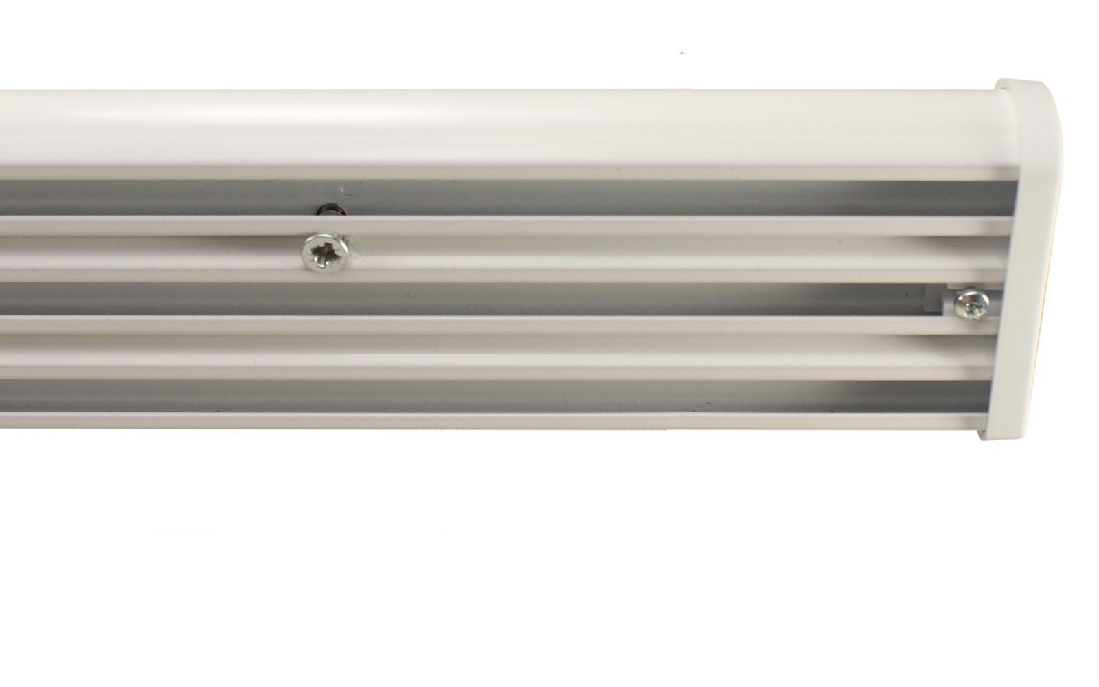 Sehr 3 läufige Gardinenschienen weiß aus Aluminium KI92