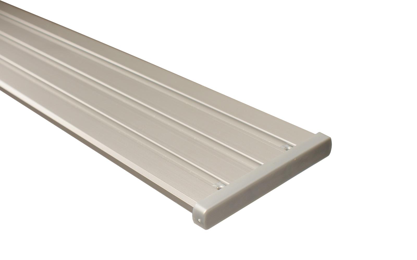 4 l ufige vorhangschiene aus aluminium silber. Black Bedroom Furniture Sets. Home Design Ideas