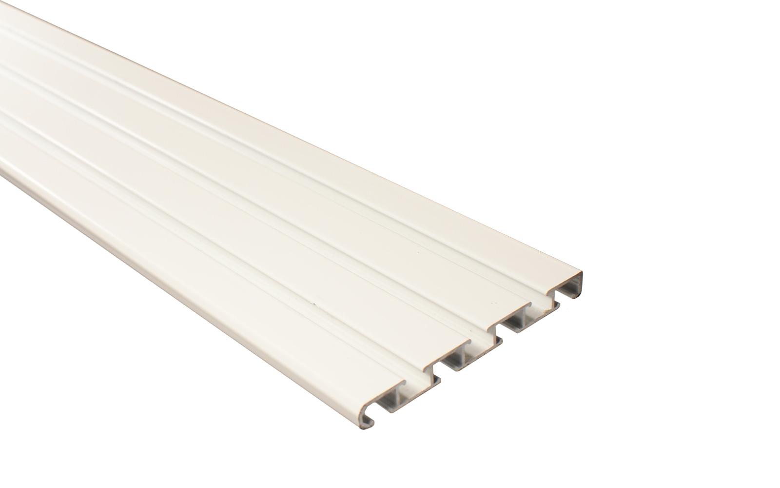 4 l ufige gardinenschiene aus aluminium wei. Black Bedroom Furniture Sets. Home Design Ideas