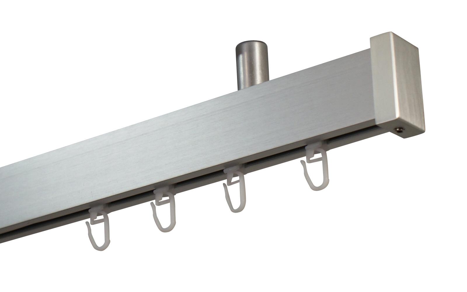 Gardinenstange Eckig Silber Deckenmontage