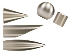 Komplett Neu Gardinenstangenhalter und Endstücke für 16 mm Gardinenstangen US62