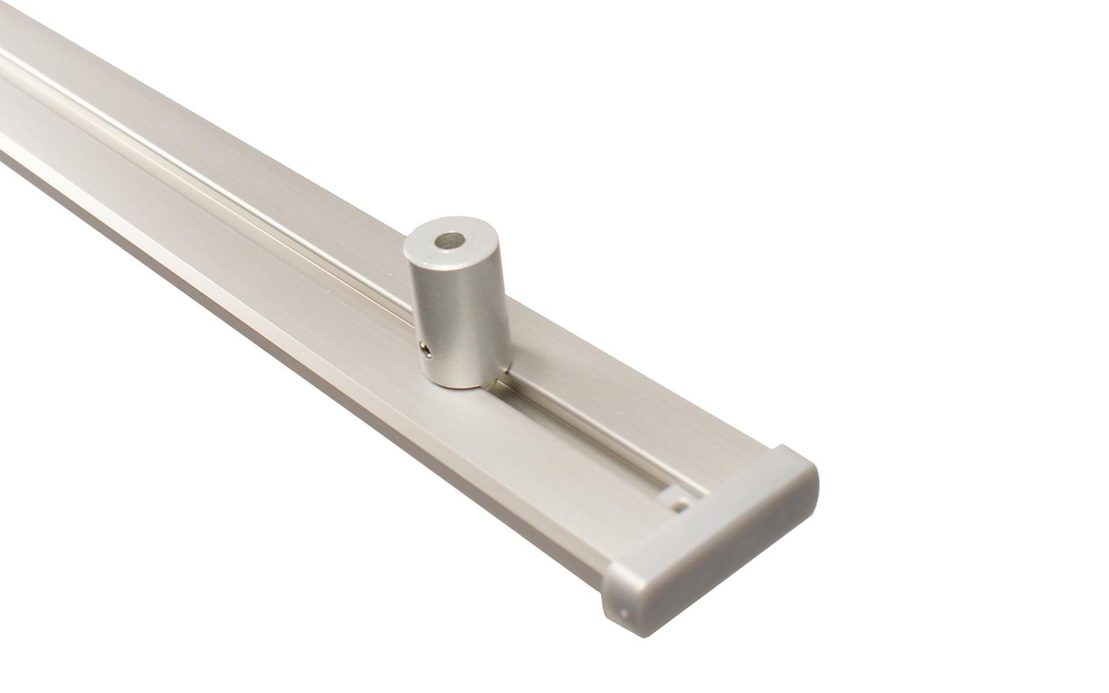 Erstaunlich 2 läufige Gardinenschiene aus Aluminium alu silber AX81