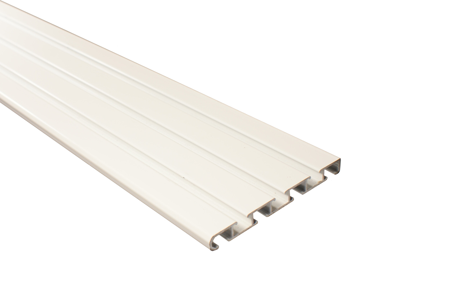 4 l ufige gardinenschiene aus aluminium wei mit deckentr ger. Black Bedroom Furniture Sets. Home Design Ideas