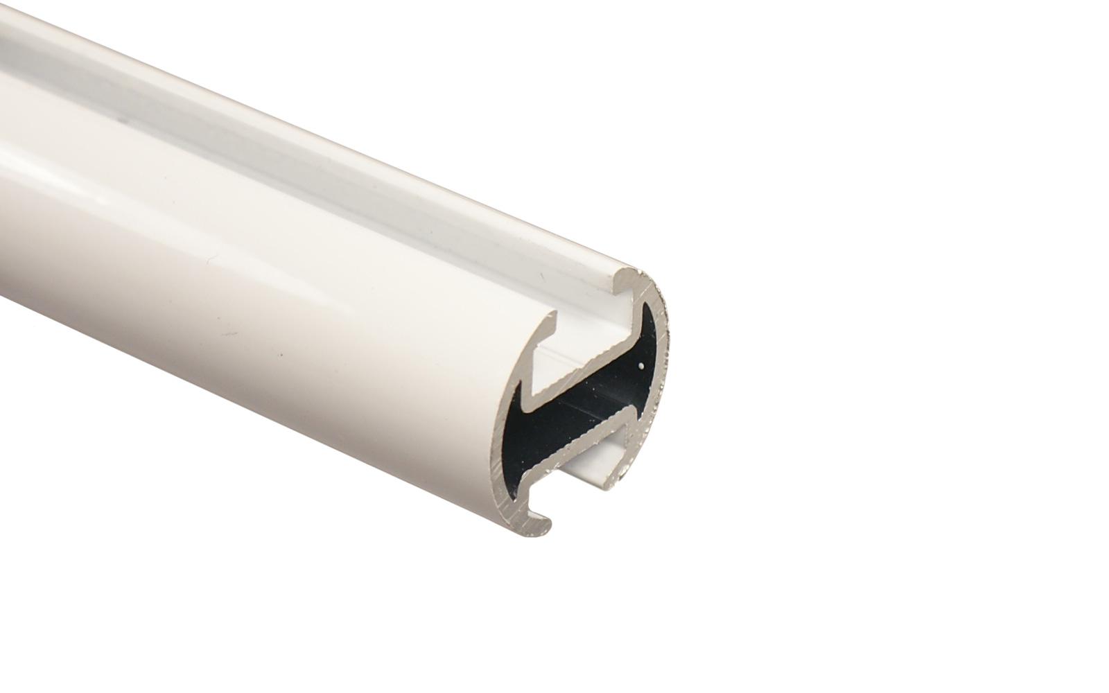 gardinenstange weiß metall