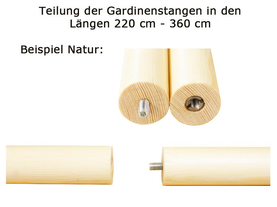 Holz Gardinenstangen 28 Mm Weiss